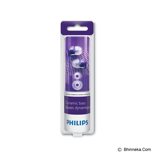 PHILIPS In-Ear Headphones [SHE 3590PP] - Purple - Earphone Ear Monitor / Iem